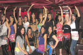 hen party belly dance class in london