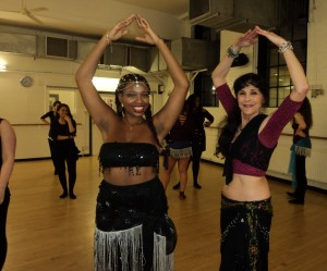 Lovely dancer came on her birthday to dance in my Egyptian belly dance class at Pineapple