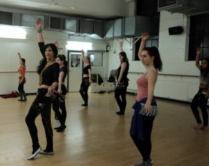 Belly dance class in London at Pineapple Studios at Covent Garden